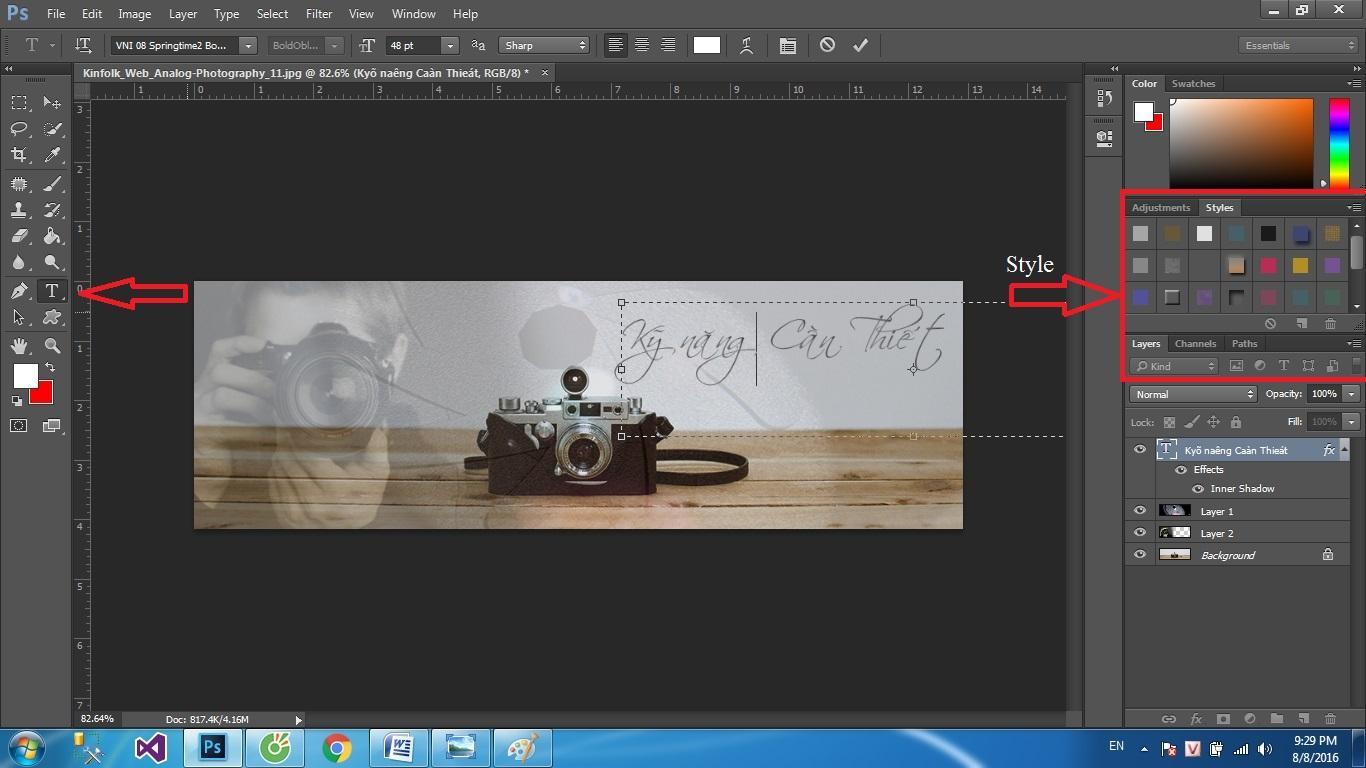 Cách thiết kế ảnh bìa facebook bằng photoshop