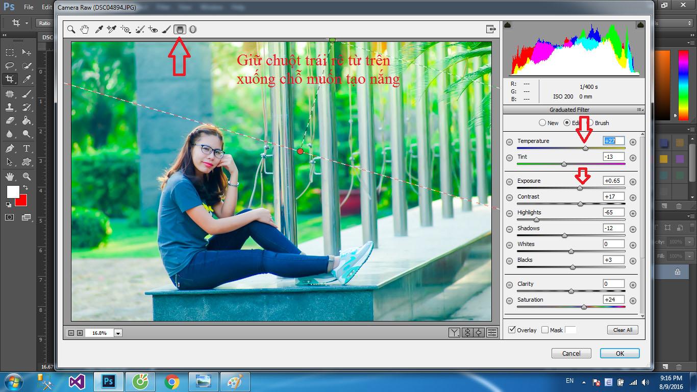 Cách chỉnh màu ảnh trong veo bằng photoshop