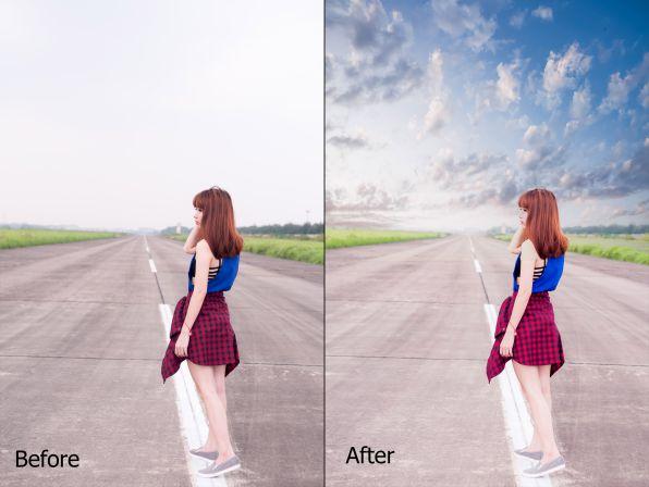 Cách ghép mây cơ bản bằng photoshop