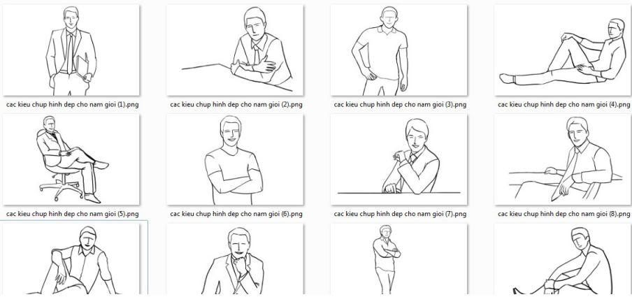 Các tư thế chụp hình đẹp cho nam giới