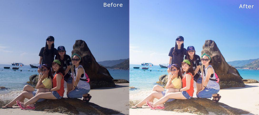 Cách blend màu nước biển bằng photoshop