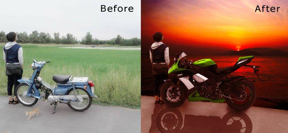 Cách ghép nền và chỉnh ảnh bằng photoshop
