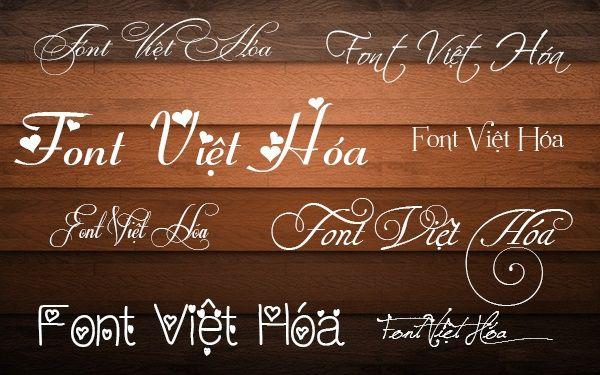 Tải bộ font việt hóa đẹp cho thiết kế
