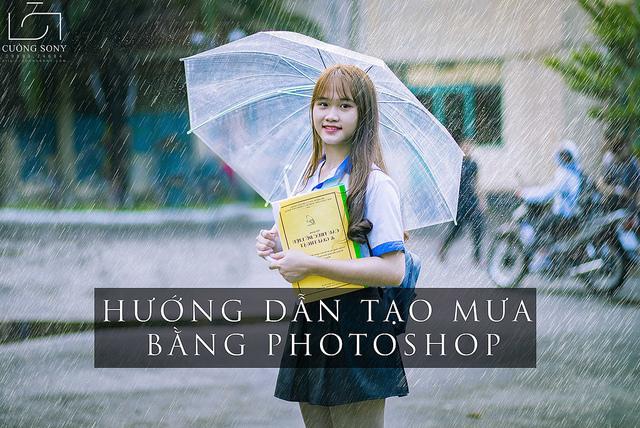 Hướng dẫn cách tạo hiệu ứng mưa bằng photoshop