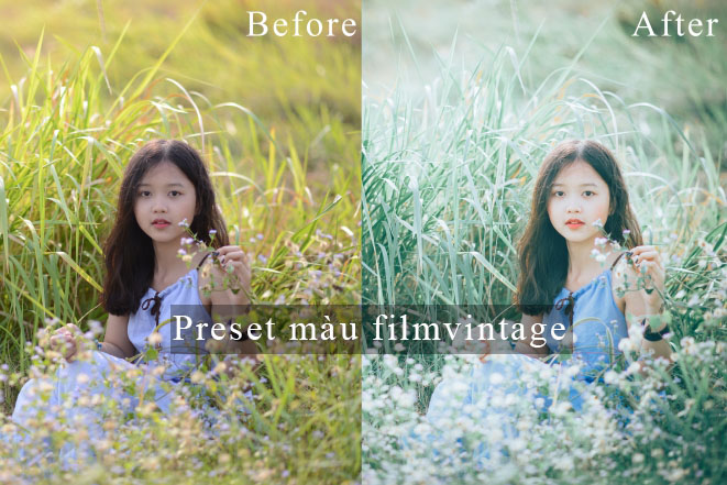 Chia sẻ preset phim vintage đẹp trên camera raw