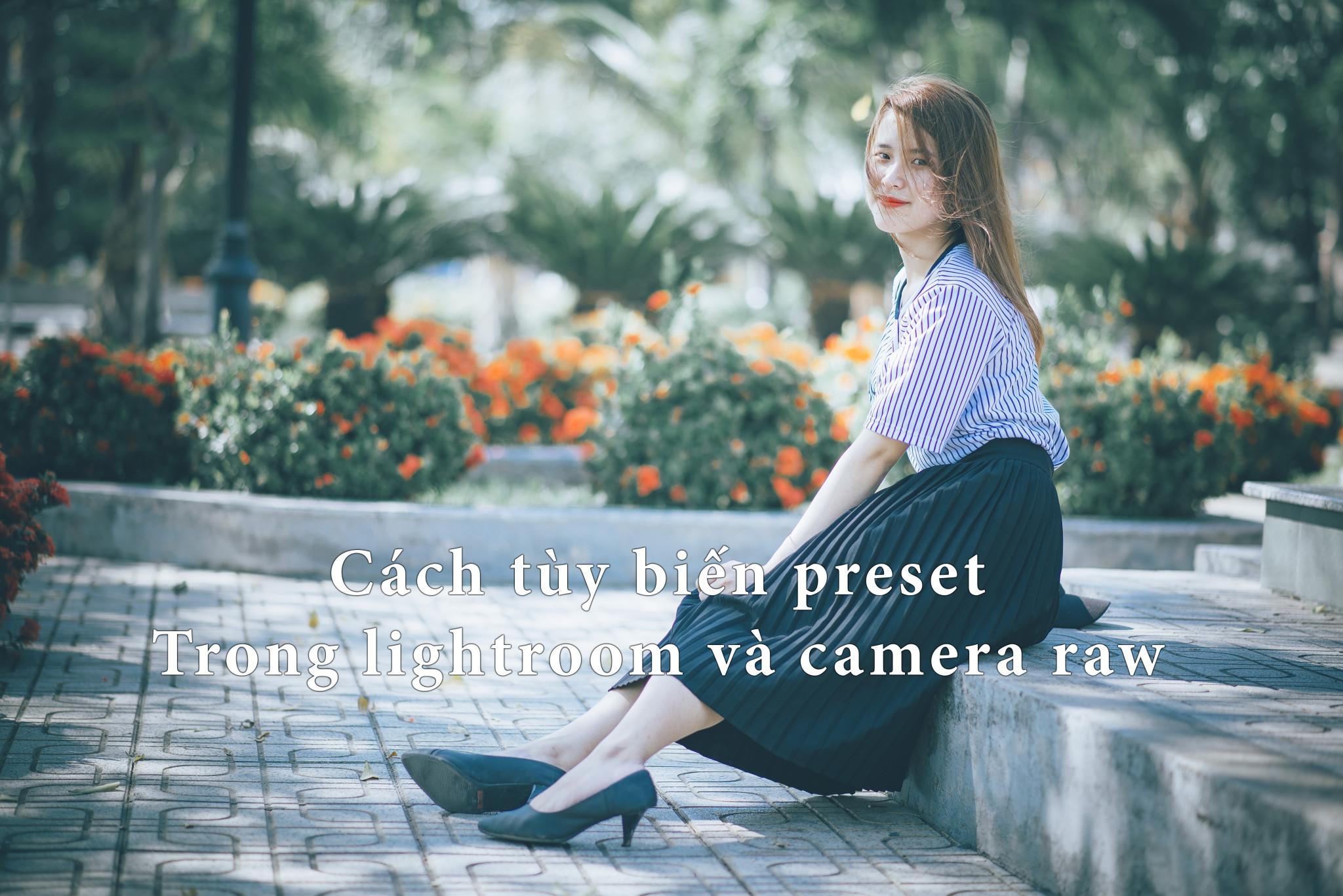 Cách tùy biến preset lightroom và camera raw trong photoshop