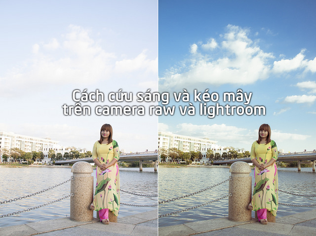 Cách kéo mây trên camera raw trong photoshop và lightroom