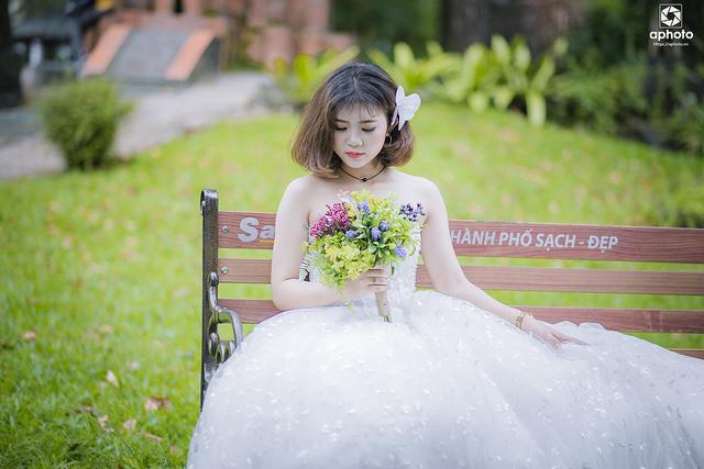 Chia sẻ stock ảnh cô dâu đơn chụp ngoại cảnh
