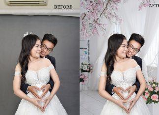 Cách ghép phông nền cho ảnh cưới cơ bản