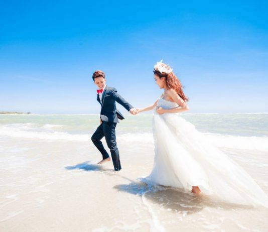 Bộ ảnh cưới đẹp thực hiện tại Hồ Cốc Vũng Tàu
