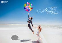 Preset ảnh cưới màu xanh nước biển trong trẻo đẹp