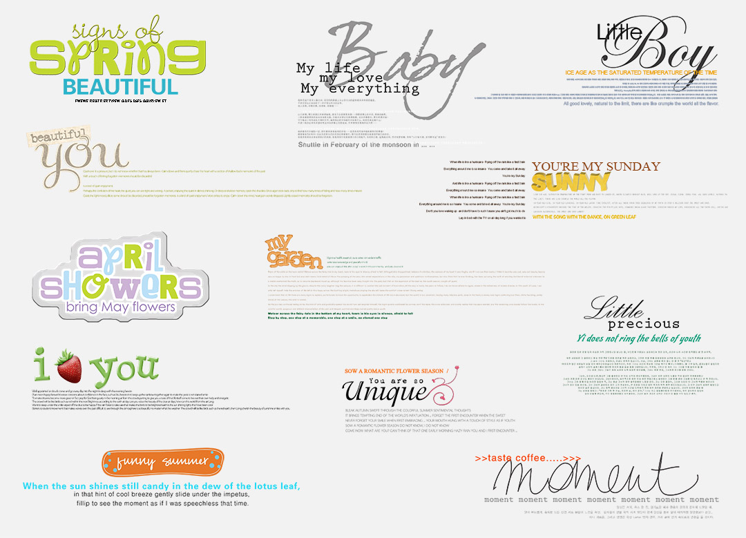 Chia sẻ bộ Typography cực đẹp cho ảnh cưới