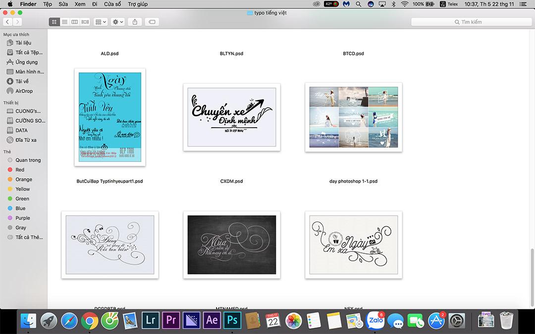 Chia sẻ typography PNG, PSD tiếng việt đẹp