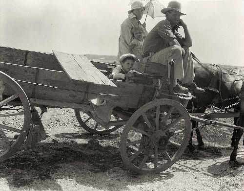Một gia đình nông dân Mỹ, ảnh của tác giả Dorothea Lange.