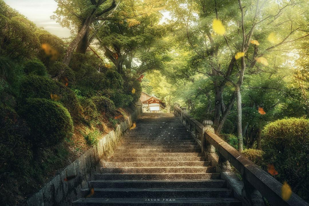 Ảnh phong cảnh phong cách blend màu HDR Anime đẹp