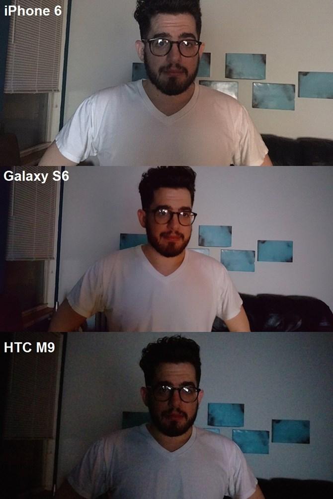 Hình ảnh thứ 4 chụp trong điều kiện thiếu sáng, cho thấy nhược điểm của HTC M9 khi bức ảnh không được rõ nét và hơi tối so với bức ảnh chụp từ hai mẫu điện thoại còn lại.