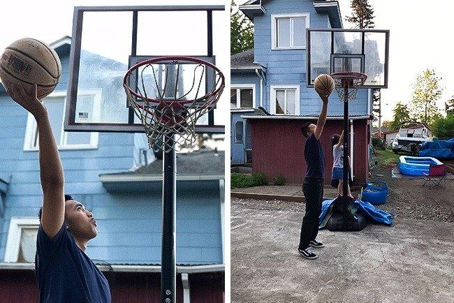 Dù không cao nhưng mình là người yêu thích thể thao, đặc biệt là bóng rổ
