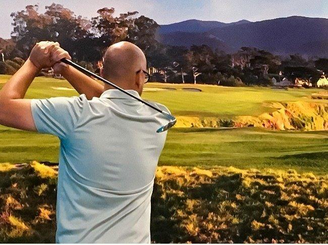 Lâu lâu có ngày nghỉ nên đi choi golf
