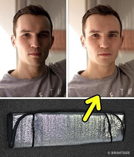 Sử dụng tấm hắt sáng
