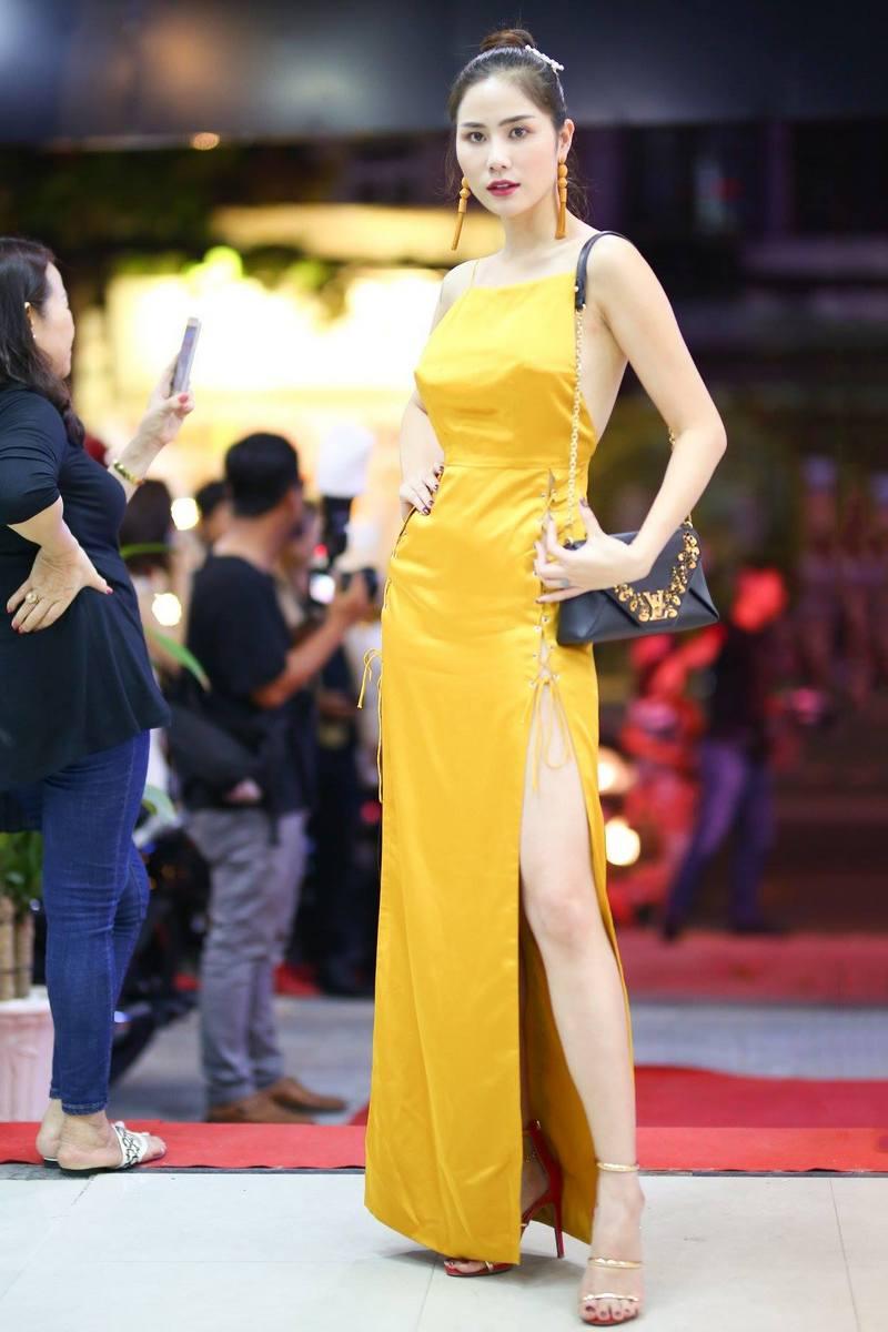 Á hậu Hoàng Hạnh xuất hiện nổi bật tại sự kiện