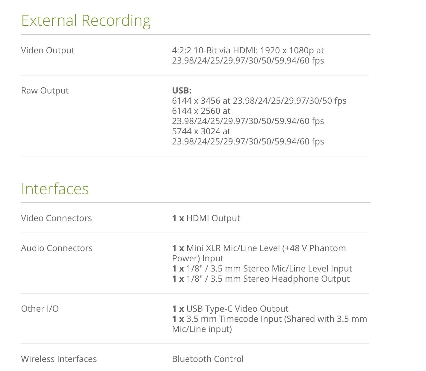 Thông tin chi tiết về máy Blackmagic Design Pocket Cinema Camera 6K (Canon EF)