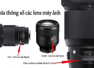 Nhiếp ảnh cơ bản | Ý nghĩa của các thông số, ký hiệu của ống kính (Lens) máy ảnh DSLR, Mirrorless
