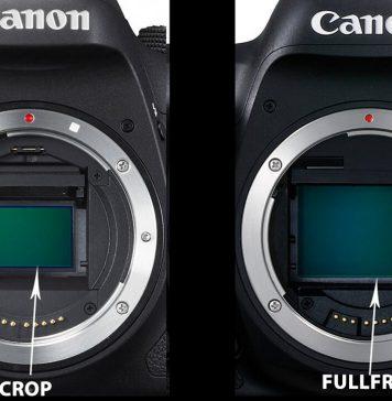 Máy ảnh fullframe và máy ảnh crop
