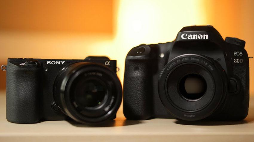 Canon 80D và sony a6500