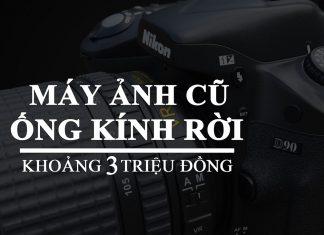 Máy ảnh ống kính rời cũ có giá khoảng 3 triệu đồng