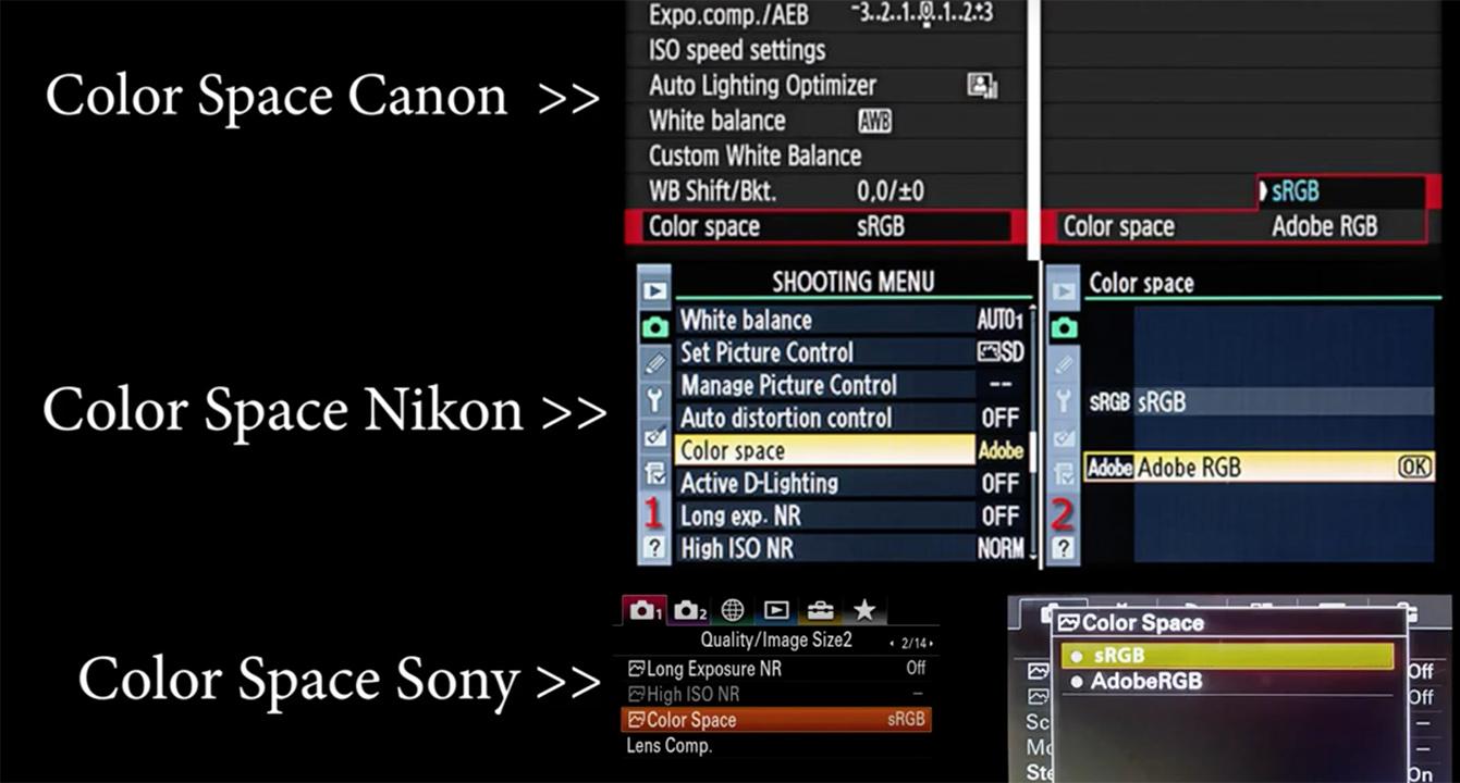 Hệ màu sRGB và Adobe RGB