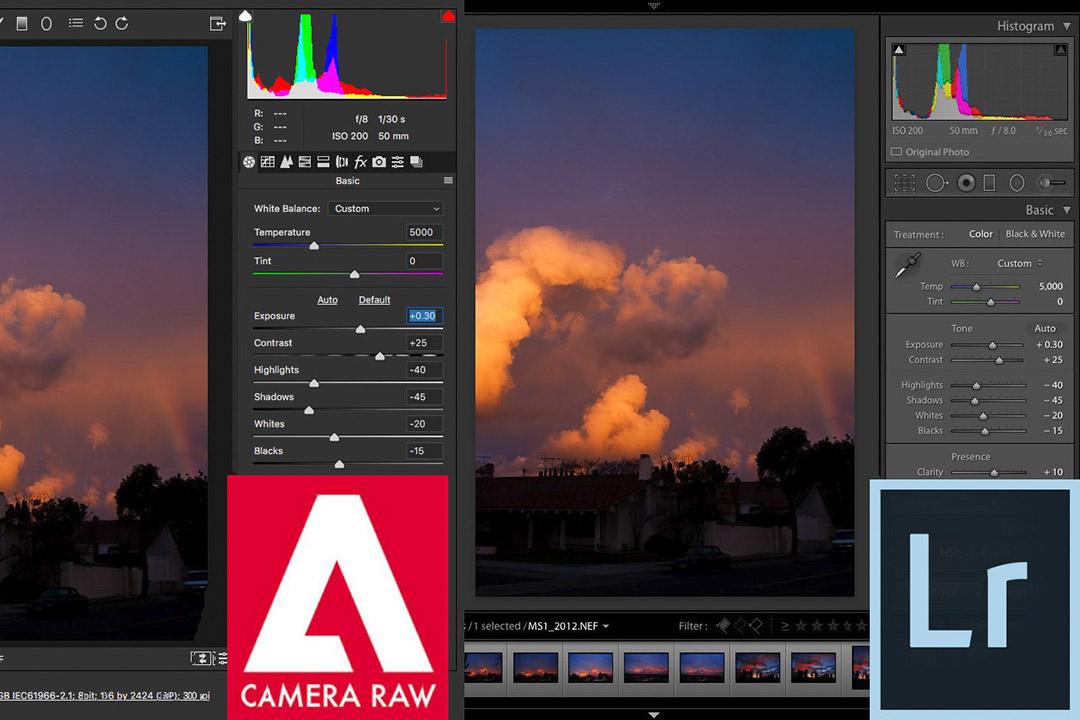 Phần mềm camera raw và lightroom