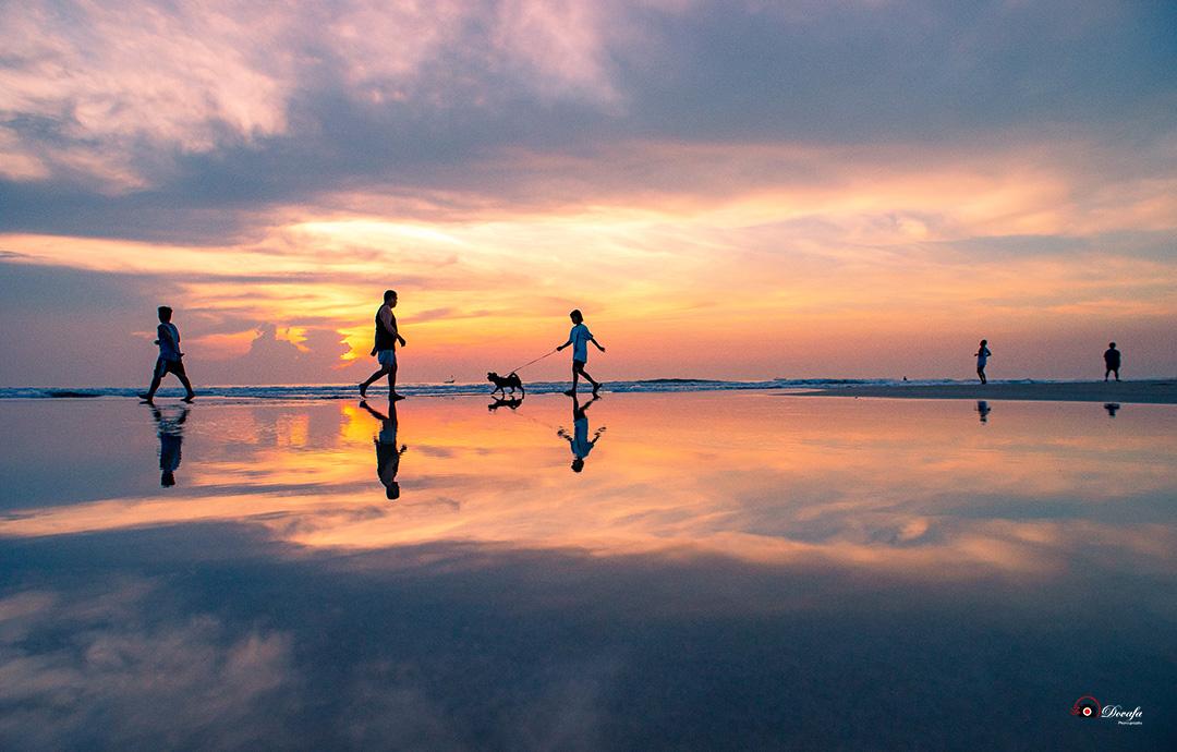 Ảnh chụp phong cảnh bãi biển bình minh Đà Nẵng