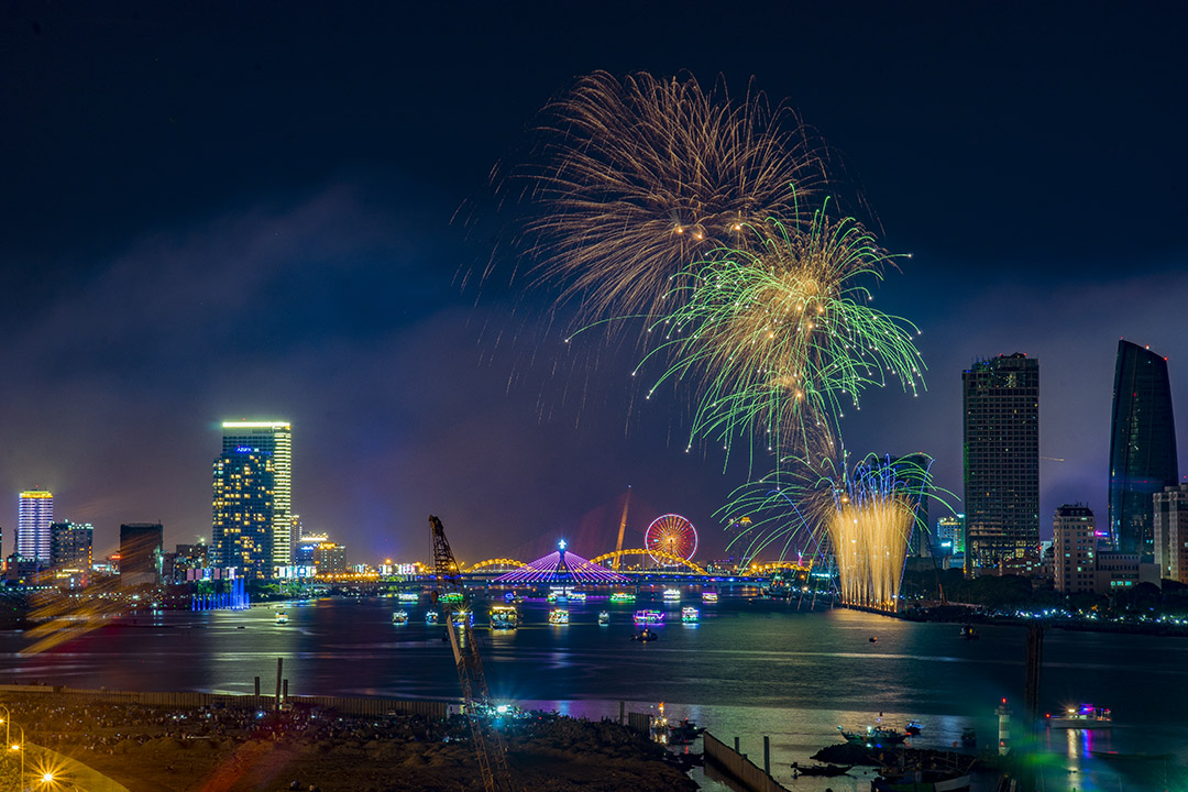 Hình ảnh pháo hoa tại Đà Nẵng đẹp